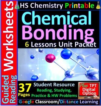 Chemical Bonding 6-Product Bundle: HS Chemistry Notes, Worksheet..etc