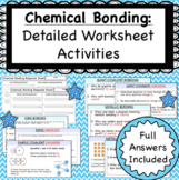 Chemical Bonding (Covalent, Ionic and Metallic) Worksheets