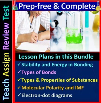 Chemical Bonding & Substances Topic Bundle: 5 Essential Skills Guided Lessons