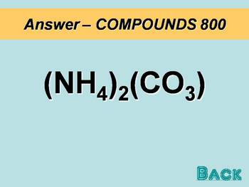 Chemical Bonding Jeopardy Review
