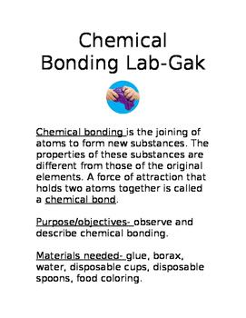 Chemical Bonding Lab-Borax + Glue = GAK
