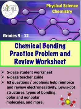 chemical bonding practice problem and review worksheet by amy brown science. Black Bedroom Furniture Sets. Home Design Ideas
