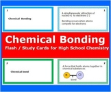 Chemical Bonding: Printable Flash (Study) Cards to study f