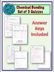 Chemical Bonding Quizzes - Set of 3