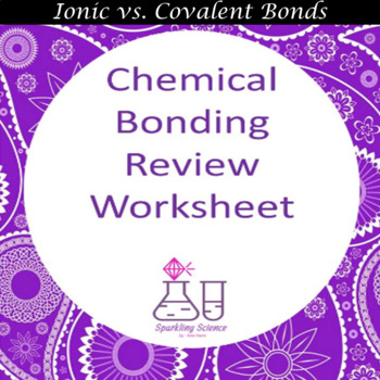 Chemical Bonding Review Worksheet