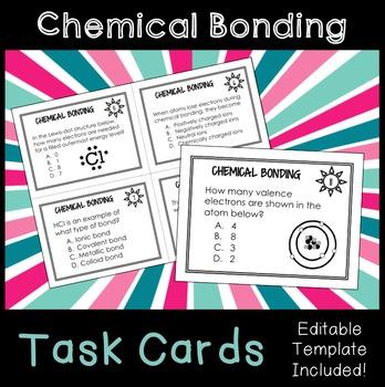 Chemical Bonding Activity Teaching Resources Teachers Pay Teachers