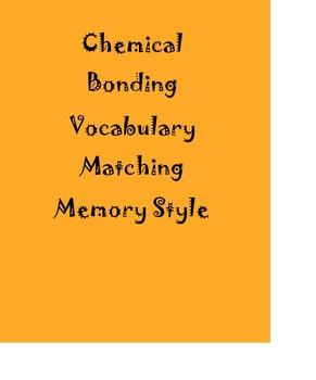 Chemical Bonding Vocabulary Matching Game