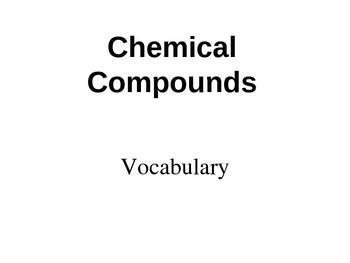 Chemical Bonding Vocabulary Powerpoint