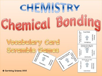 Chemical Bonding Vocabulary Scramble Game