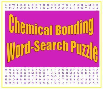 Chemical Bonding: a fun word search puzzle for HS Chemistry