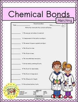 Chemical Bonds Matching
