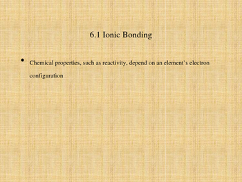 Chemical Bonds Notes