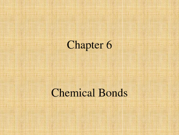 Chemical Bonds Notes