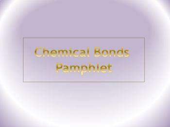 Chemical Bonds Pamphlet