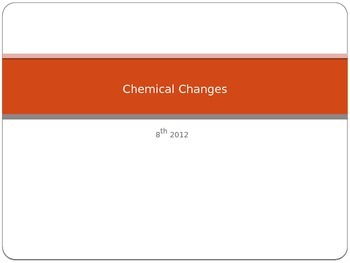 Chemical Changes (8th)