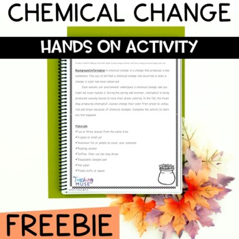 Chemical Changes Activity with Leaves for Fall or Autumn