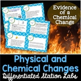 Chemical Changes and Physical Changes Student-Led Station Lab
