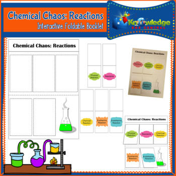 Chemical Chaos: Reactions Interactive Foldable Booklet