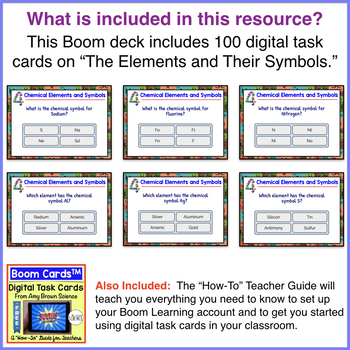 Chemical Elements and Their Symbols Boom Cards™
