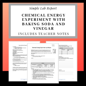 Chemical Energy Experiment with Baking Soda and Vinegar