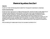 Chemical Equation Card Sort