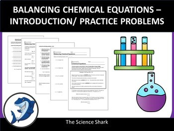 Balancing Chemical Equations - Intro with 10 Problems