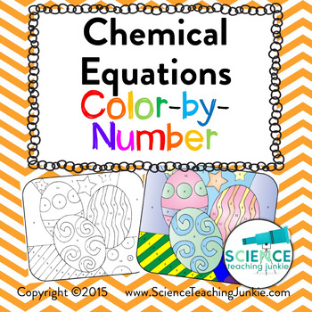 Chemical Equations Color-by-Number (TEKS 8.5F)