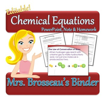 Chemical Equations Package - Balancing Chemical Equations, Types of Reactions