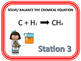 Chemical Equations - Task Cards
