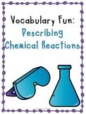 Chemical Equations Vocabulary