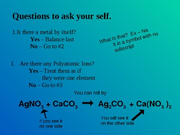 Chemical Equations and Balancing Equations