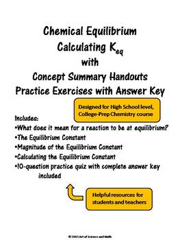 Chemical Equilibrium - Calculating Keq - High School Science