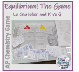 Chemical Equilibrium Game -- K vs Q and Le Chatelier
