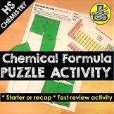 Chemical Formula Activity - Square Puzzle