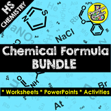 Chemical Formula Worksheet, PowerPoint and Activity Bundle
