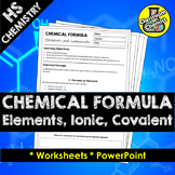 Chemical Formula - elements, covalent and ionic chemicals MS-PS1