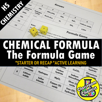 The Formula Game - writing and naming chemical formula MS-PS1