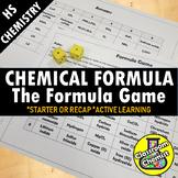 Chemical Formula Activity - Writing and Naming Game