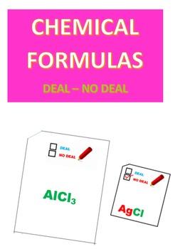 Chemical Formulas Deal -- No Deal