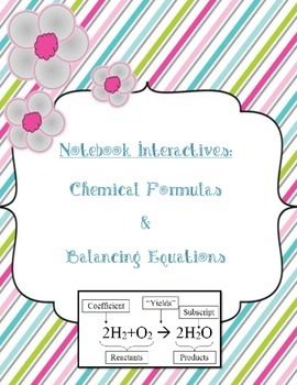 Chemical Formulas and Balancing Equations