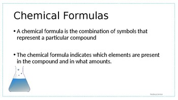 Chemical Formulas and Counting Atoms