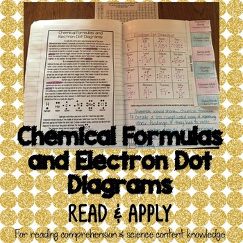 Chemical Formulas and Electron Dot Diagrams Interactive Notebook Activity