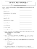 Chemical Interactions (Chemistry) Test