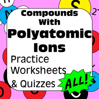 Chemical Nomenclature: Polyatomic Bonding Naming Compounds High School Chemistry