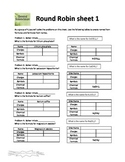 Chemical Nomenclature (Polyatomic Ion) Round Robin Activity