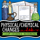 Chemical & Physical Change Lab (CER Format) - EDITABLE DOCUMENT