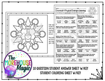 Chemical & Physical Changes Coloring Page