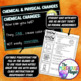 CHEMICAL AND PHYSICAL CHANGES SCIENCE DOODLE NOTES, INTERACTIVE NOTEBOOK