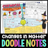 Chemical and Physical Changes Science Doodle Notes with Po