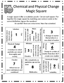 Chemical & Physical Changes (Magic Square)